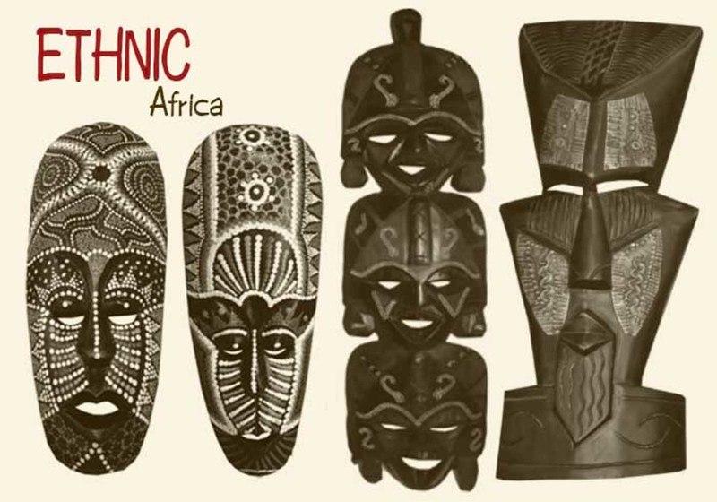 20 African Mask Brushes.abr vol.5 Photoshop brush