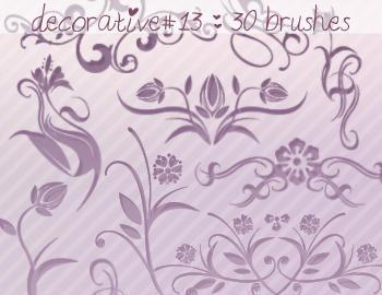 Decorative Brushes 13 Photoshop brush