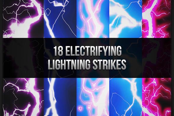 18 Electrifying Lightning Brush Strikes Photoshop brush
