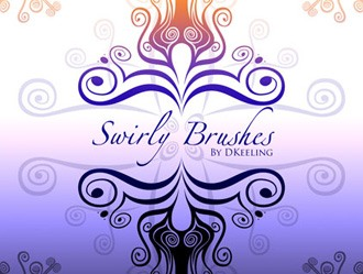 Swirly Brushes Photoshop brush
