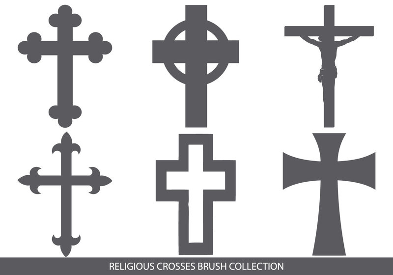 Religious Cross Brush Collection Photoshop brush
