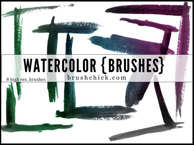 Watercolor Corner Photoshop brush