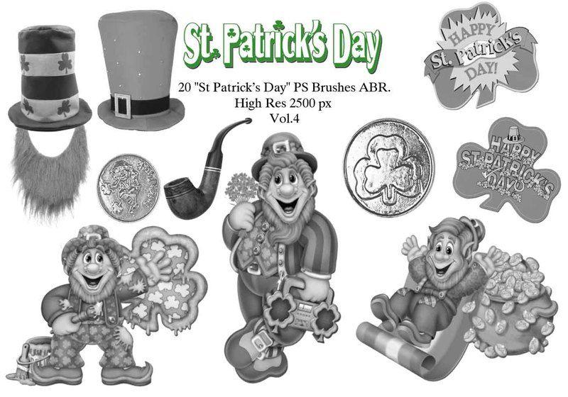 "20 ""St Patricks Day"" PS Brushes abr. Vol.4 Photoshop brush"