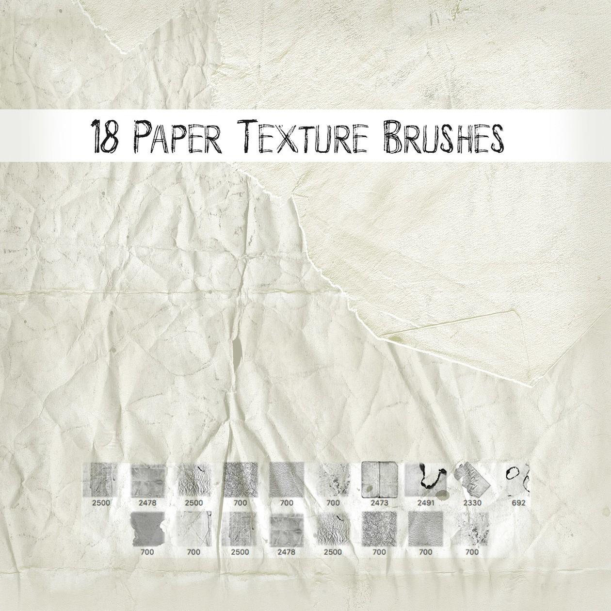 Paper Texture Brushes Photoshop brush