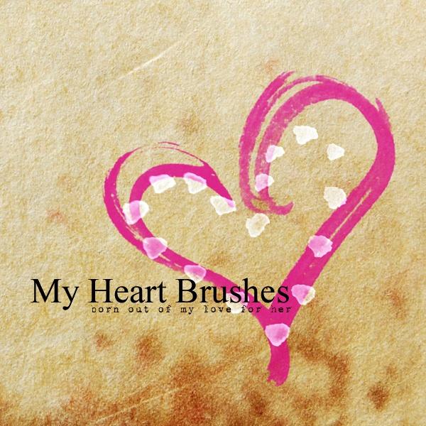 My Heart Brushes Photoshop brush