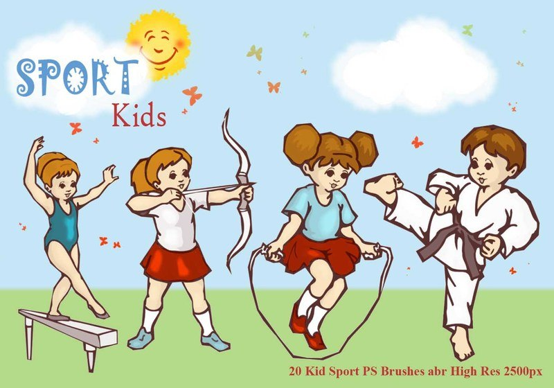 Sport Kid PS Brushes abr Photoshop brush