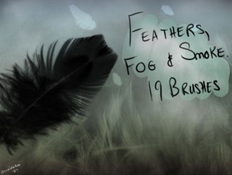 Feathers, Fog and Smoke Photoshop brush