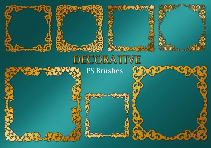 20 Decorative Border PS Brushes abr. Vol.2 Photoshop brush