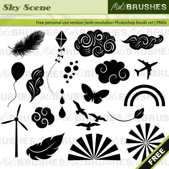 Sky Scene Brushes Photoshop brush