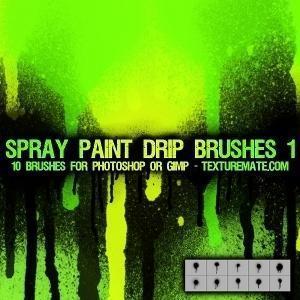 Spray Paint Drip Brushes 1 Photoshop brush