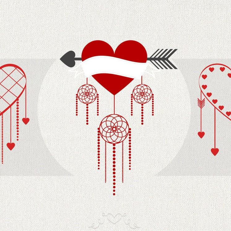 Valentine's Day Twist Brushes Photoshop brush