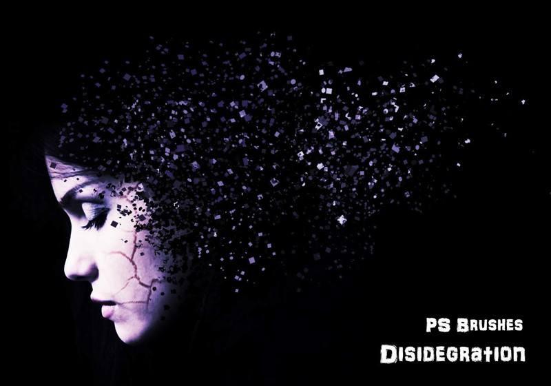 20 Disidegration PS Brushes abr. vol.2 Photoshop brush