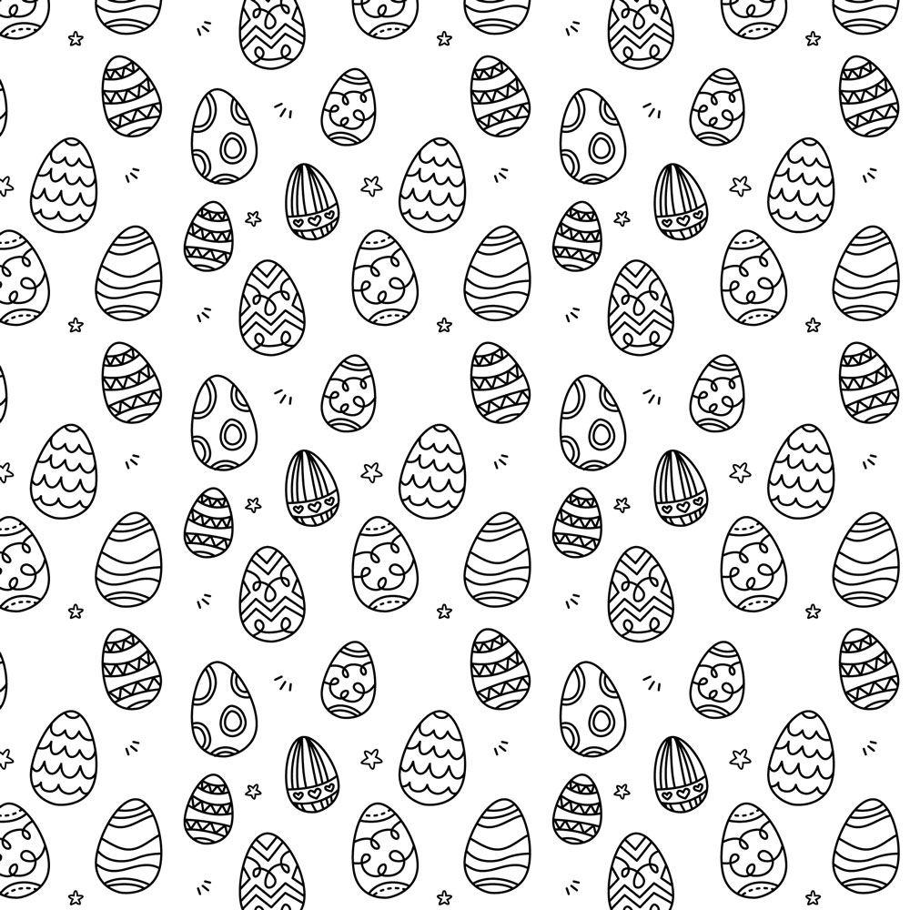 7 Easter Eggs Brushes Photoshop brush