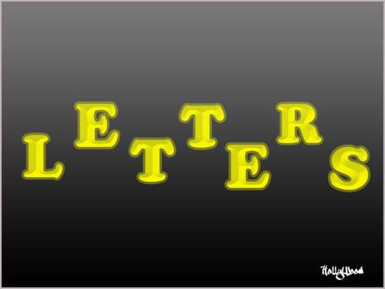 Beveled Letters Brushes Photoshop brush