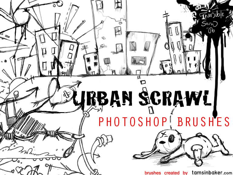 Urban Scrawl Photoshop brush