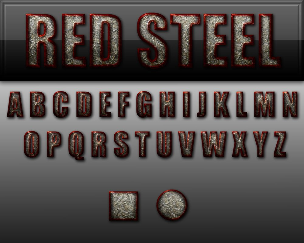 Red Steel Style Photoshop brush