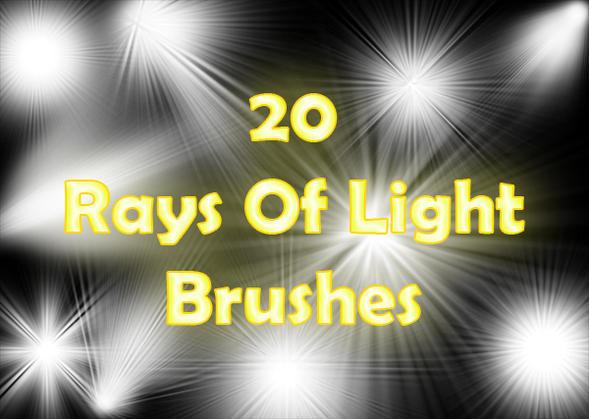 Rays of Light Brushes 2 Photoshop brush