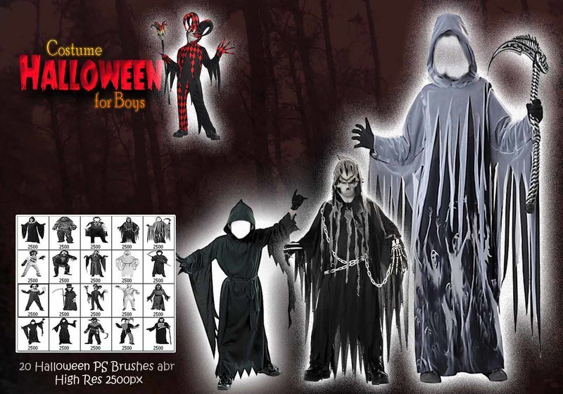 Halloween Costume for Boys PS Brushes abr Photoshop brush