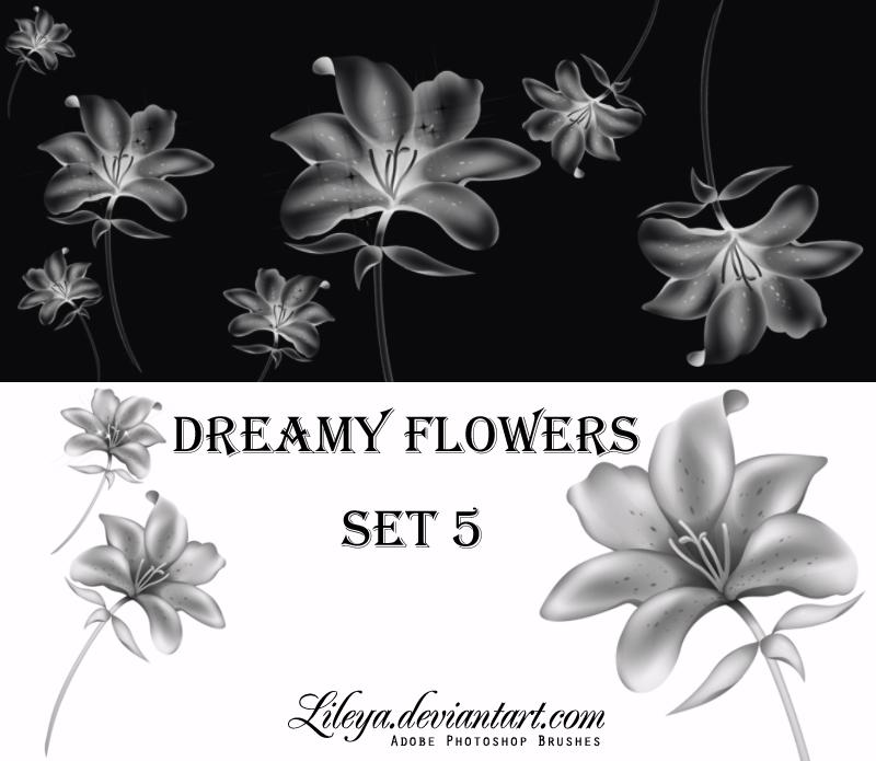 Dreamy Flowers set 5 Photoshop brush