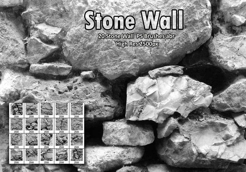 Stone Wall  PS Brushes abr Photoshop brush