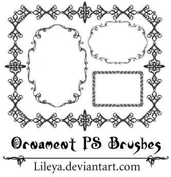 Ornament Frames Photoshop brush
