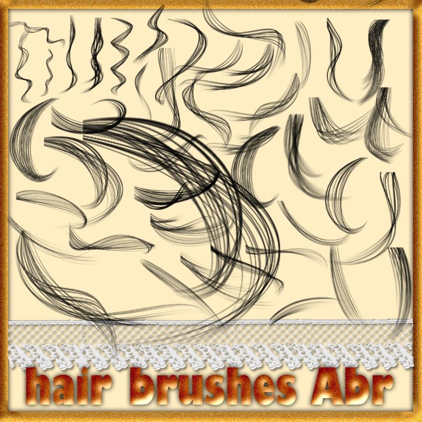 Hair Brushes Photoshop brush