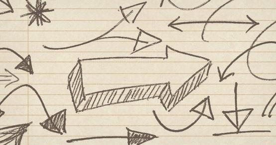 """Hand Drawn """"Arrow"""" Photoshop Brushes Photoshop brush"""