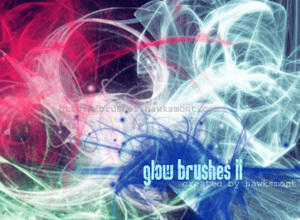 Glow Brushes II Photoshop brush