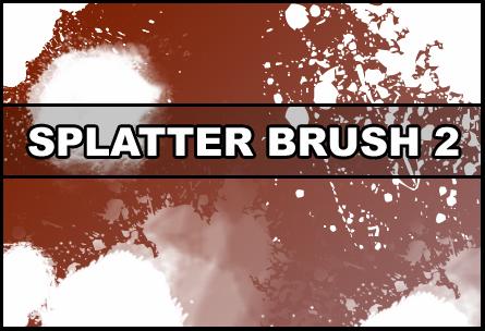 Splatter brush 2 Photoshop brush