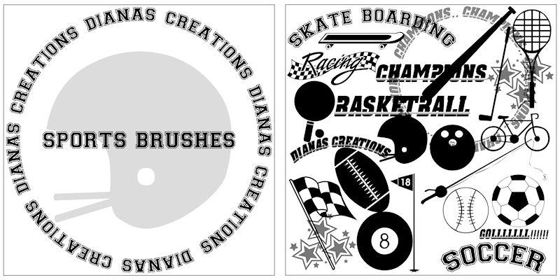 Sports Brushes Photoshop brush