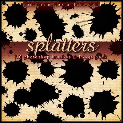 Splatters Brushes Photoshop brush