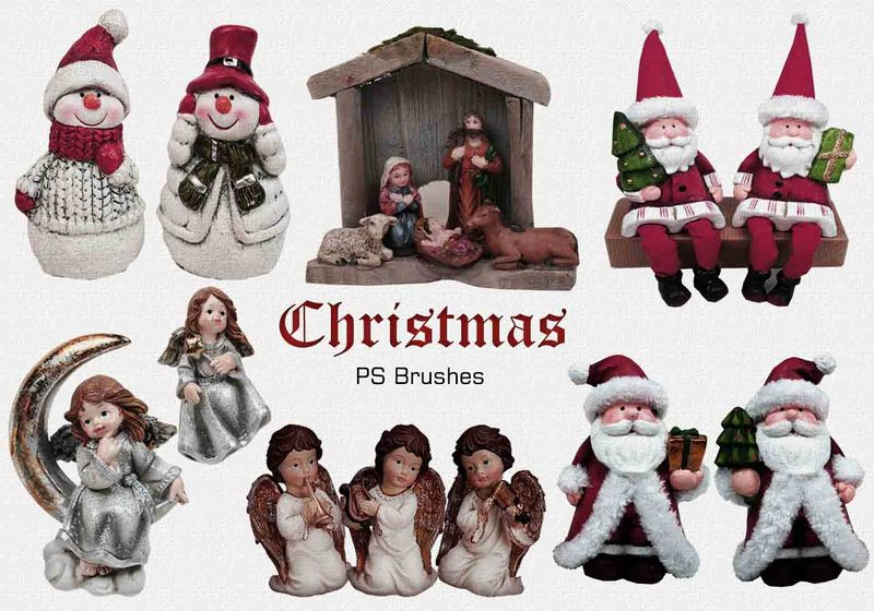 20 Christmas PS Brushes abr. Vol.6 Photoshop brush