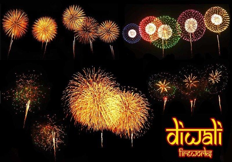 20 Diwali Fireworks PS Brushes abr. vol.4 Photoshop brush