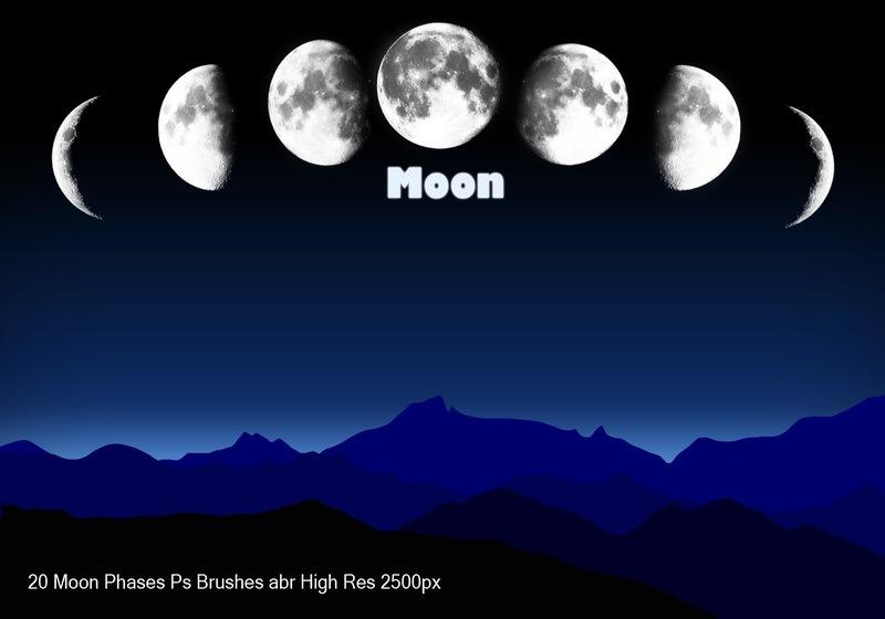 Moon Phases Ps Brushes abr Photoshop brush