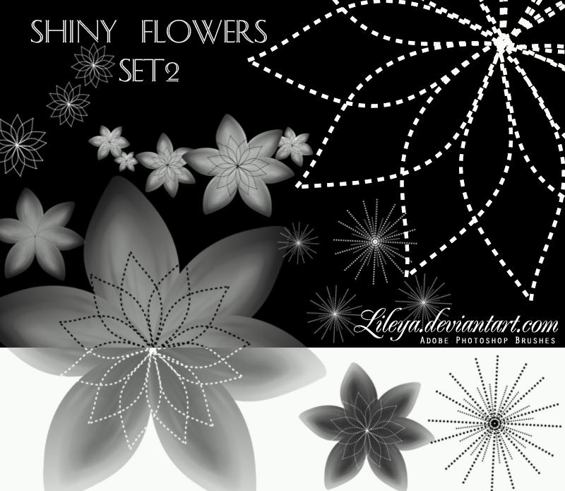 Shiny Flowers set 2 Photoshop brush