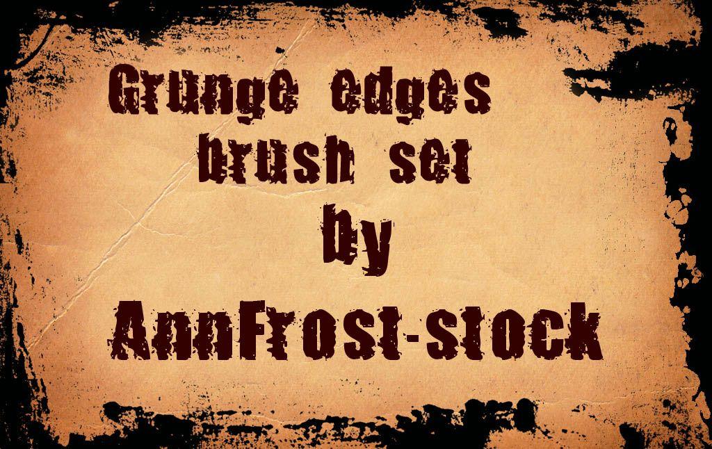 Grunge edges Photoshop brush