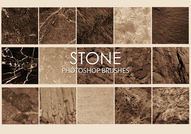 Free Stone Photoshop Brushes 6 Photoshop brush
