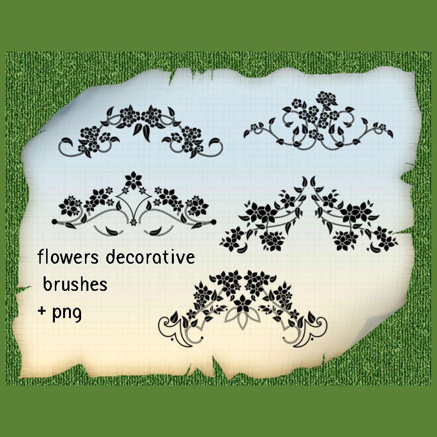 Set of 5 Floral Ornament Brushes Photoshop brush