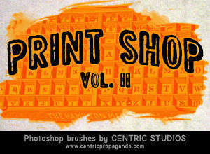 Print Shop Vol. II Photoshop brush