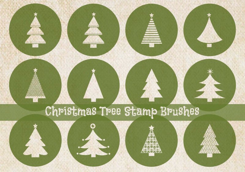 Christmas Tree Stamp Brushes Photoshop brush