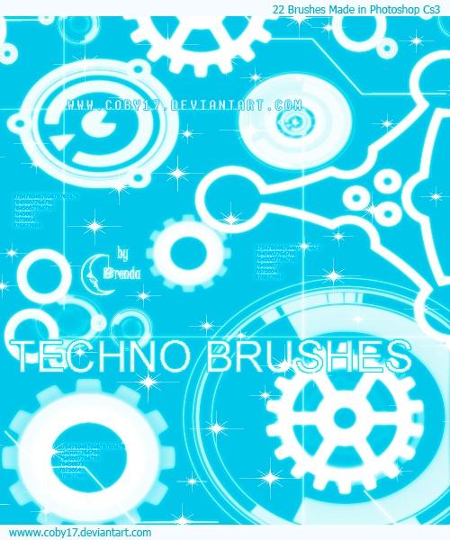 Techno Brushes Photoshop brush