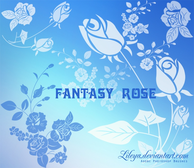 Fantasy Rose Photoshop brush