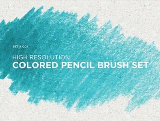 Colored Pencil Brushes Photoshop brush