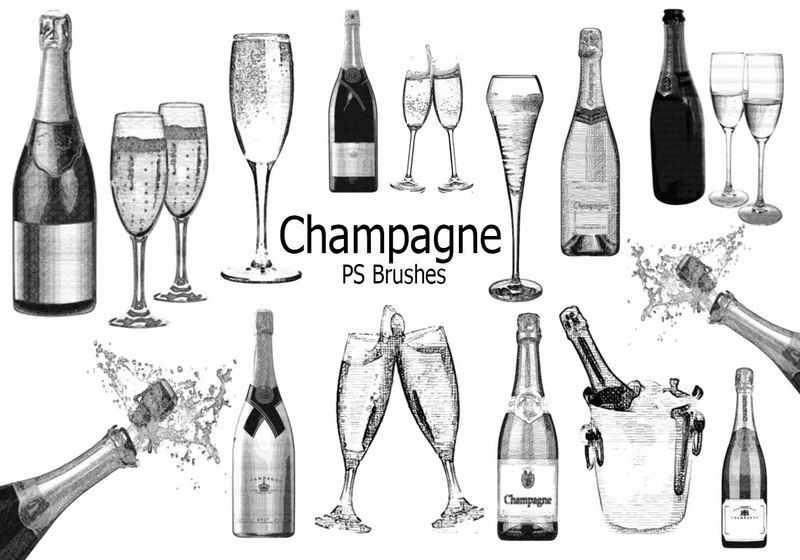 20 Champagne PS Brushes abr.vol.5 Photoshop brush