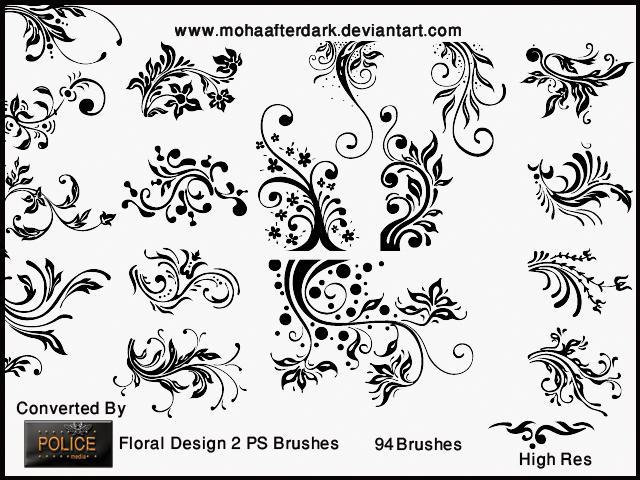 Floral Design 2 Photoshop brush