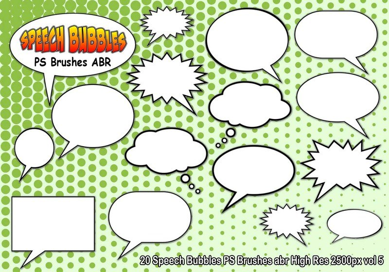 Speech Bubbles PS Brushes abr  vol 5 Photoshop brush