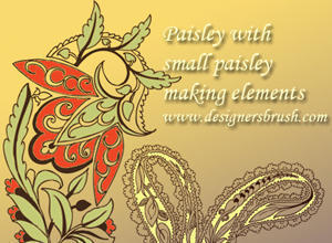 Paisley with small paisley decorative motif Photoshop brush