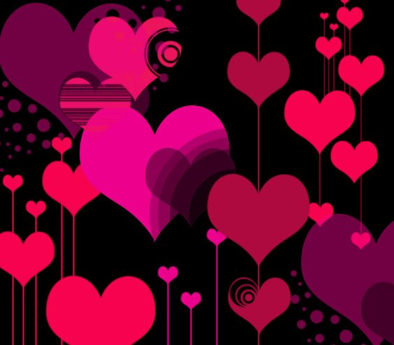 Vector 'Style' Hearts Photoshop brush