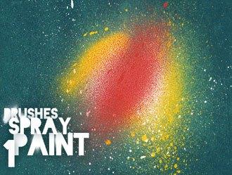 Spray Paint Brushes 1 Photoshop brush