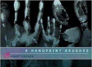 Handprints Photoshop brush